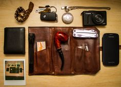 Monogrammed Leather Pipe Pouch (bday present) Lorenzetti...