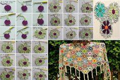 step by step crochet shawl