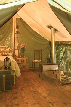 Glamping looks so much nicer than camping. :)