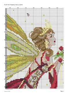 The Prosperity Fae by Passione Ricamo of Fantasy Cross Stitch, Cross Stitch Fairy, Cross Stitch Angels, Cross Stitch Books, Cross Stitch Borders, Counted Cross Stitch Patterns, Cross Stitch Charts, Cross Stitch Designs, Cross Stitching