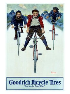 BF Goodrich Bicycle Tires  Norman Rockwell  Pneus de bicicleta BF Goodrich