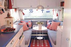 Decorating A Pop-Up Camper   Decorate a Camper in Red, White & Blue from Madison Avenue Baby.