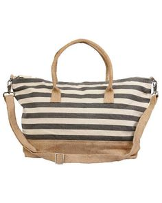 Trades of Hope - Let your adventures begin with this striped weekender bag.  This large canvas duffle bag is a great travel companion with  a detachable shoulder strap and two handles this bag is designed for grab-and go ease.  This stylish bag can be your companion on your journey as a travel bag ,gym bag,beach bag or just what you need to put all your daily essentials.