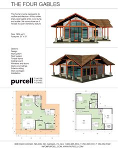 Purcell Timber Frames - The Precrafted Home Company - The Four Gables