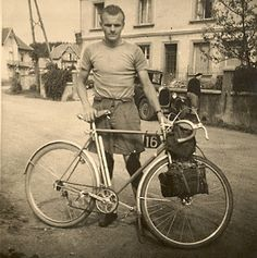 Ernest Csuka of Cycles Alex Singer ~ 1947