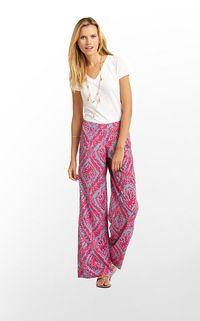 pink pallazo pants