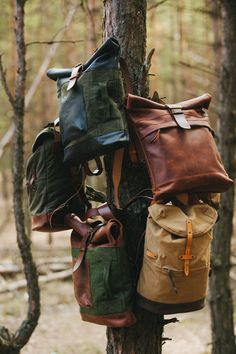 Made with vintage military surplus materials and leather, Kruk Garage's limited-edition bags are ones you'll want to keep for a lifetime. - Kruk Garage