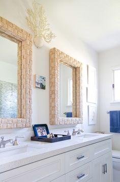 Bathroom Mirrors Coastal beachwood place: coastal bathroom makeover - great idea to tile