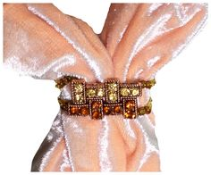 Scarf Jewelry scarf slide beaded curtain by RelaxedLuxKathleen