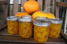 Canned Pumpkin Pickles – a Sweet Fall Treat Canned Pumpkin, Pumpkin Pumpkin, Fall Treats, Fall Pumpkins, Preserves, Family Meals, Pickles, Cantaloupe, Carrots