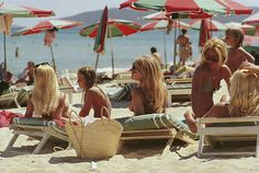 The beach at Saint-Tropez, on the French Riviera, August (Photo by Slim Aarons/Getty Images) Image provided by Getty Images. Click the photo. to see the options for ordering or gifting this photograph. Saint Tropez, Antibes, Monte Carlo, Monaco, Ski Nautique, La French, Beach Canvas, Canvas Art, Canvas Prints