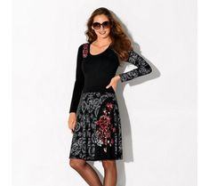 Šaty s potlačou a dlhými rukávmi | modino.sk #modino_sk #modino_style #style #fashion #blancheporte Midi Skirt, Calvin Klein, Floral, Skirts, Fashion, Scrappy Quilts, Women's Short Dresses, Printed Dresses, Floral Skirts
