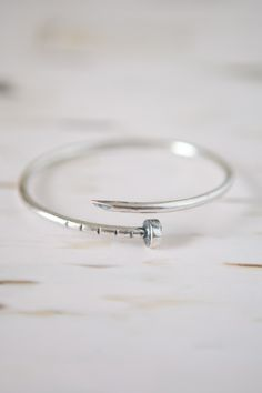 Nailed It Silver Bracelet