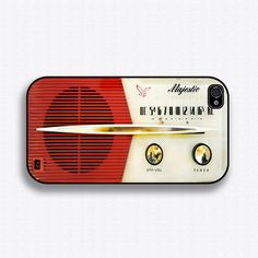Vintage Majestic Radio iPhone 4 Case iPhone 4s by iCaseSeraSera