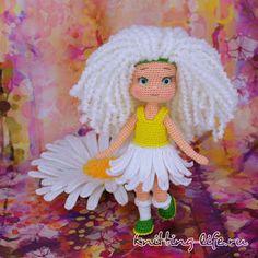 Кукла Ромашка крючком | 1000 схем амигуруми на русском