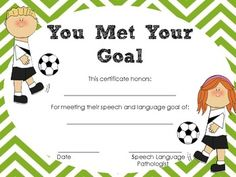 Speech Room Certificates! Repinned by SOS Inc. Resources pinterest.com/sostherapy/.