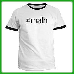 Idakoos - Hashtag Math - Hobbies - Ringer T-Shirt - Math science and geek shirts (*Amazon Partner-Link)