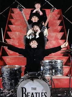 """Beatlemania is the crazy fans for the new band coming out the Beatles. The members of this new band is John Lennon, Paul McCartney, George Harrison, and Ringo Starr. The Beatles first album was """"Love Me Do"""" released October Foto Beatles, Beatles Love, Les Beatles, Beatles Photos, Beatles Songs, Ringo Starr, George Harrison, Paul Mccartney, John Lennon"""