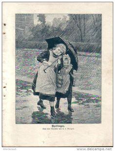 Aprilregen - Druck, entnommen aus Velhagen und Klasings- Monatsheften/ 1909
