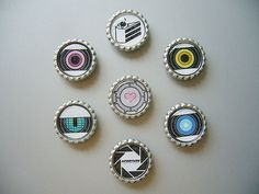 ortal 2 Aperture Science Magnet - FULL SET (8 Magnets) Companion Cube Cake Aperture Labs Wheatley Space Fact Rick Adventure Core