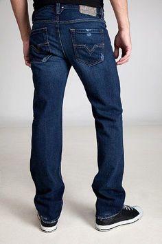 8e197cab NEW mens DIESEL LARKEE 008TE denim Blue Regular straight leg JEANS size W29  L34 #Diesel