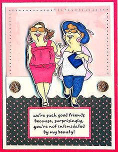 4-Uptown-Girls! Words sold separately. I also set these girls in a set where the words come with it in a set. Made by Art Impressions. You can purchase these in my ebay store. Click on picture & it will take you into this listing. Use my search engine to find the other items . My ebay Store is: Pat's Rubber Stamps & Scrapbooks or call me 423-357-4334 with order. We take PayPal. You get free shipping with $30.00 or more on phone orders.