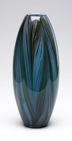 Peacock Feather Vase.