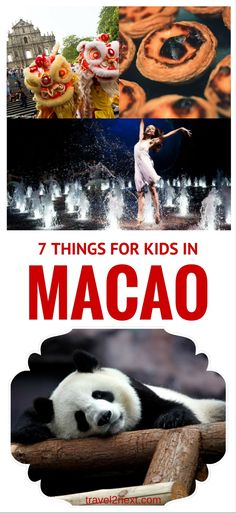 7 things to do in Macau for kids. Think that chasing a toddler around an overcrowded casino hub is a fate worse than death? Think again.