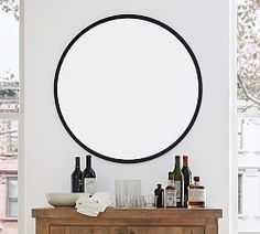 Audrey Beaded Mirror   Pottery Barn Oversized Round Mirror, Round Hanging Mirror, Mirror Art, Floor Mirror, Round Mirrors, Large Mirrors, Wall Mirrors, Vintage Mirrors, How To Clean Mirrors