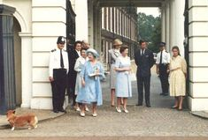 August 4, 1983:  Prince Charles, Princess Diana with  the Royal Family at Clarence House on the occasion of the Queen Mother's 83rd birthday.