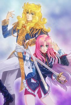 Fanart of Oscar François de Jarjayes from Rose of Versailles and Utena Tenjou from Revolutionary Girl Utena Heroes By David Bowie, Lady Oscar, Star Emoji, Revolutionary Girl Utena, Dragon Ball, Anime Toys, Girls Series, Animated Cartoons, Magical Girl