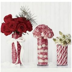 Candy/Flower Centerpieces to carry color scheme