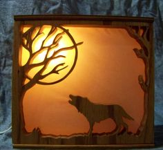 Light box  made on scroll saw