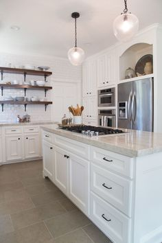 Astounding Diy Ideas: Kitchen Remodel Brown Layout kitchen remodel with island hardware.Kitchen Remodel With Island Window vintage kitchen remodel interiors.Apartment Kitchen Remodel On A Budget. New Kitchen Cabinets, Kitchen Flooring, Oak Cabinets, White Cabinets, Kitchen Backsplash, Tile Floor Kitchen, Granite Kitchen, Kitchen Remodel Cost, Kitchen Remodeling