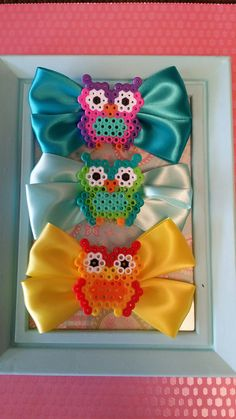 Owl Perler Hair Clip by StephanieJuneCrafts