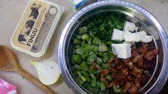 Sałatka z bobem, serem fetą i boczkiem - pomysł na letni obiad. #finuu #bob #salatka #inspiracje