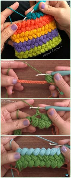 Crochet Braid Puff Stitch Free Pattern and Video Instruction