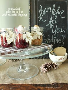 Pie in a jar {with a
