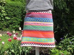 Miniröcke - Bunter Baumwoll Strickrock Thea Gr. M - ein Designerstück von Lotta_888 bei DaWanda