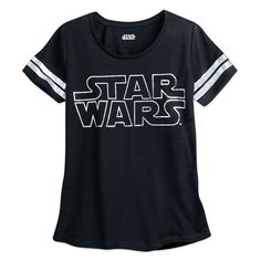 Women's Star Wars logo burnout football tee at the Disney Store ⭐️ Star Wars fashion ⭐️ Geek Fashion ⭐️ Star Wars Style ⭐️ Geek Chic ⭐️