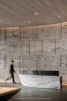 E-mail - Antonio Milazzo - Outlook Lobby Interior, Home Interior, Modern Interior Design, Reception Desk Design, Lobby Reception, Office Reception, Reception Counter, Restaurant Hotel, Restaurant Design