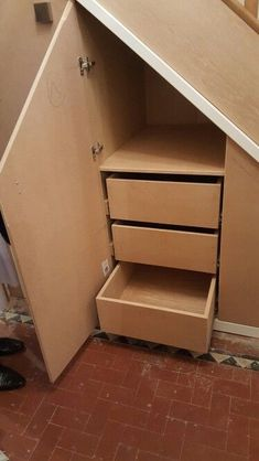 Under Stairs Storage Bedroom Built Ins Ideas Kitchen Under Stairs, Space Under Stairs, Under Stairs Cupboard, Toilet Under Stairs, Staircase Storage, Attic Storage, Bedroom Storage, Under Stair Storage, Attic Stairs