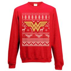 #WonderWoman #Unisex #FairIsle #Christmas #Jumper - Retrorules.co.uk Go all Wonder Woman this Crimbo with our awesome Fair Isle jumper featuring the Wonder Woman logo and Christmas imagery in cool knit style design. A great treat for any fan! Official #DCComics