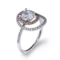 Shop online MARK SILVERSTEIN WRT-10433 Halo Two Tone Gold Diamond Engagement Ring at Arthur's Jewelers. Free Shipping