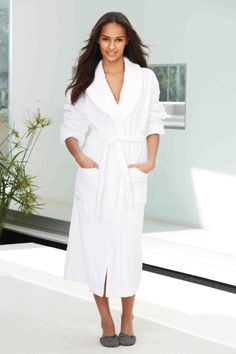 192d680012 Buy White Jacquard Towelling Robe from the Next UK online shop