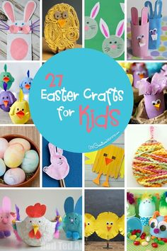 27 Fun Easter Crafts to Make with Your Kids! {These ideas are so cute! I can't wait to try them.} OneCreativeMommy.com #easter #eastercrafts #kidsactivities