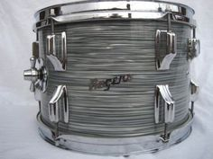 Jack McFeeters uploaded this image to 'Rogers Drums/Rogers 1967 Steel Gray Ripple Pearl'. See the album on Photobucket. Rogers Drums, Vintage Drums, Drum Kits, Drummers, Percussion, Music Posters, Steel, Pearls, Coolers