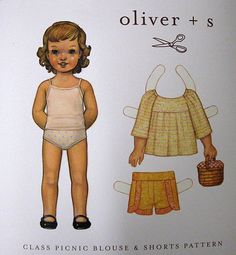 Oliver +S Patterns: Class Picnic Blouse & Shorts Pattern