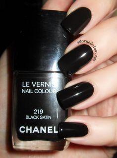 Chanel Black Satin