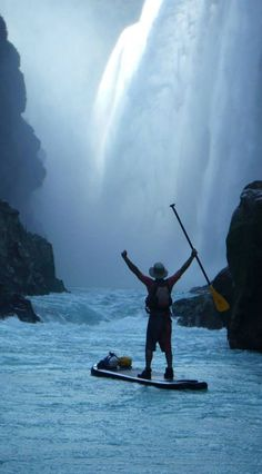 Awesome experience! Paddleboarding / SUP close to the waterfall